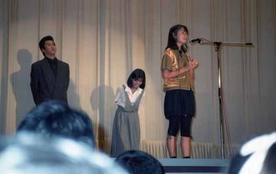 19870815_シャコタン☆ブギ初日舞台挨拶_木村一八、佐野量子、藤井一子