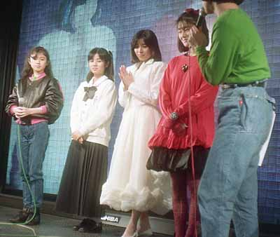 19870308アゼリアPOPパーティー出演者:太田貴子、佐野量子、真璃子、藤井一子