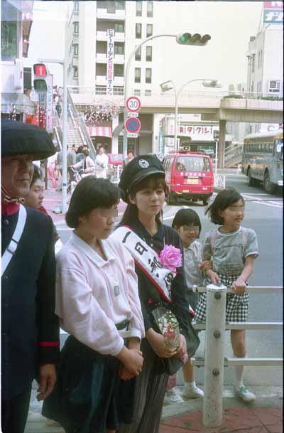 19870425佐野量子富士宮郵便局一日郵便局長郵便配達2